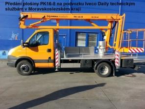 Plošina PK16-8 na podvozku Iveco Daily 65C15