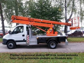 Repasovaná plošina MP13 na podvozku Iveco Daily 65C15