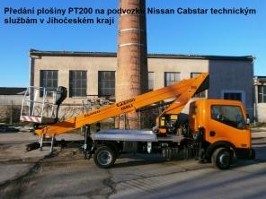 Plošina PT200 na podvozku Nissan Cabstar