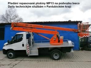 Repasovaná plošina MP13 na podvozku Iveco Daily