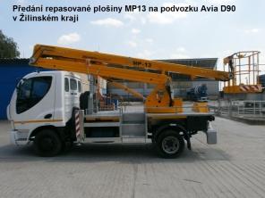 Repasovaná plošina MP13 na podvozku Avia D90