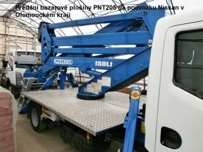 Bazarová plošina PNT205 na podvozku Nissan Cabstar