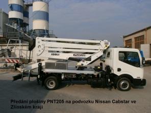 Plošina PNT205NH na podvozku Nissan Cabstar