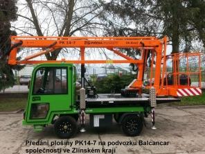 Plošina PK14-7 na podvozku Balcancar
