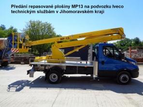 Repasovaná plošina MP13 na podvozku Iveco