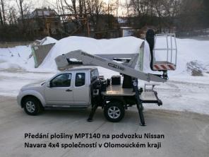 Plošina MPT140 na Podvozku Nissan Navara 4x4